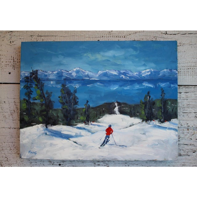 I recently painted this scene of Diamond Peak up in Tahoe. 16 x 12 x (1 3/8 depth). Oil on gallery wrapped canvas, sides...