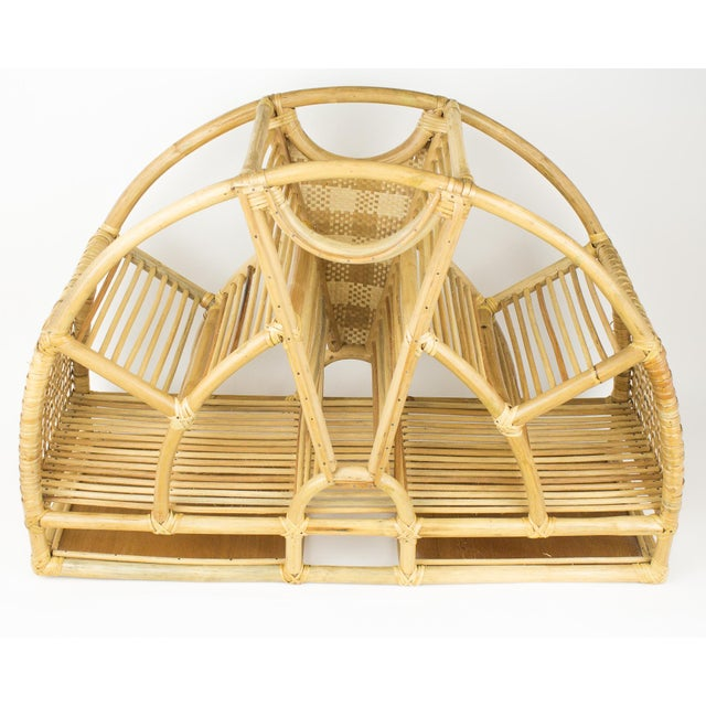 1970s Bohemian Rattan and Wicker Style Wall Desk Organizer For Sale - Image 10 of 12