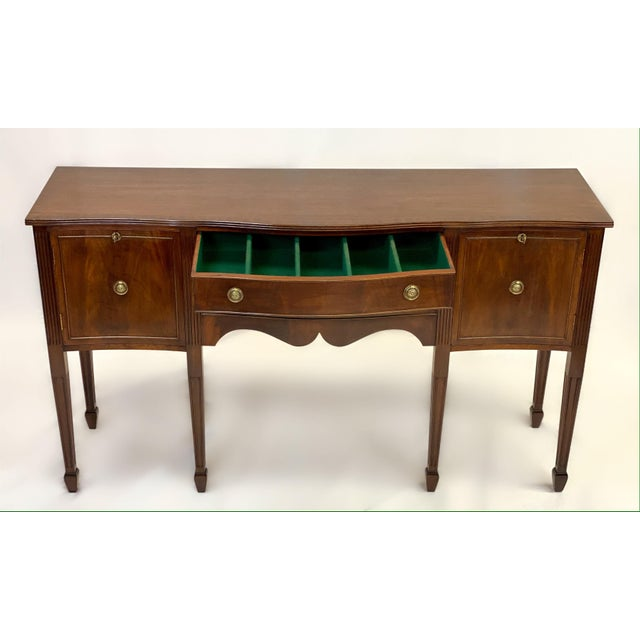 Duncan Phyfe 1890's Antique English Sheraton Style Mahogany Sideboard For Sale - Image 4 of 10