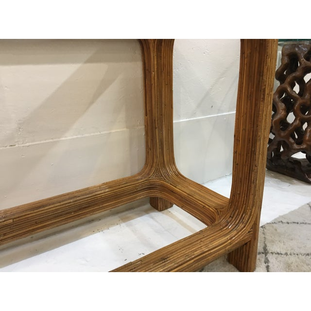 Gabriella Crespi Style Split Reed Console For Sale In Atlanta - Image 6 of 9