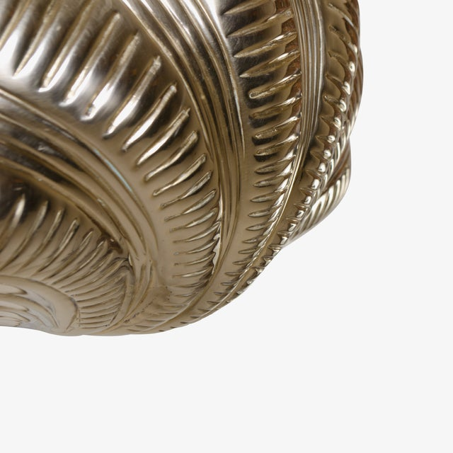 Italian Solid Brass Scallop Design Sconces - A Pair For Sale - Image 5 of 6