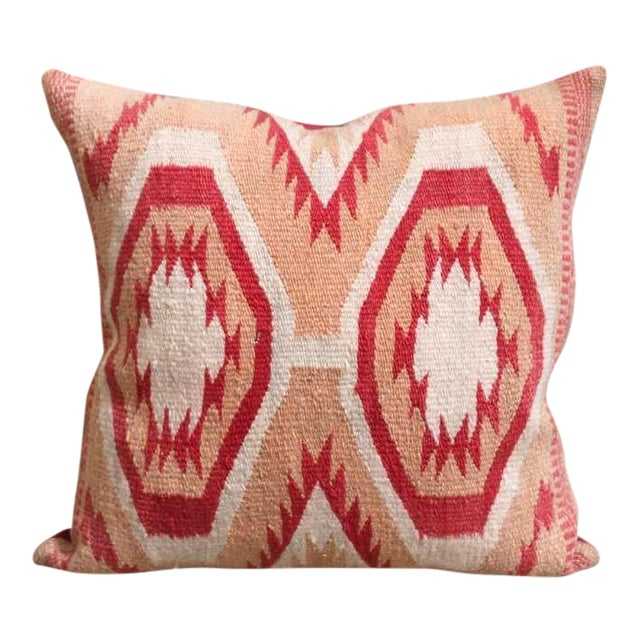 Early Wide Ruins Navajo Woven Pillow For Sale