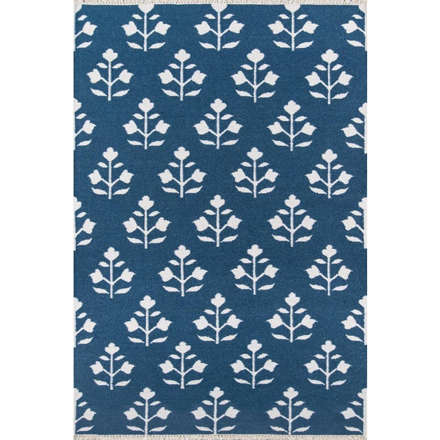 """Textile Erin Gates Thompson Grove Navy Hand Woven Wool Area Rug 5' X 7'6"""" For Sale - Image 7 of 7"""