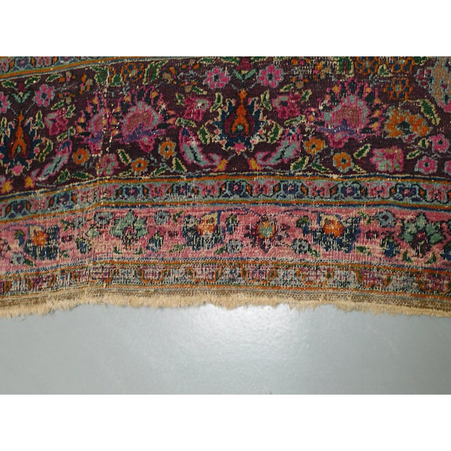 "1920s Handwoven Kerman Rug 13' 2"" X 10' 4"" For Sale - Image 9 of 13"