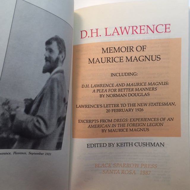 Americana Memoir of Maurice Magnus D. H. Lawrence Book For Sale - Image 3 of 9