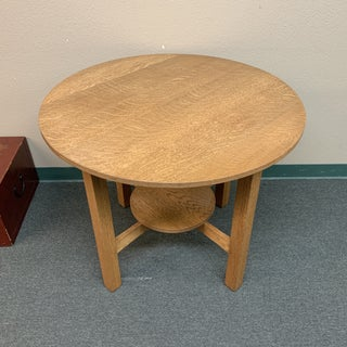 Mission Tiger Oak Bistro Table Preview