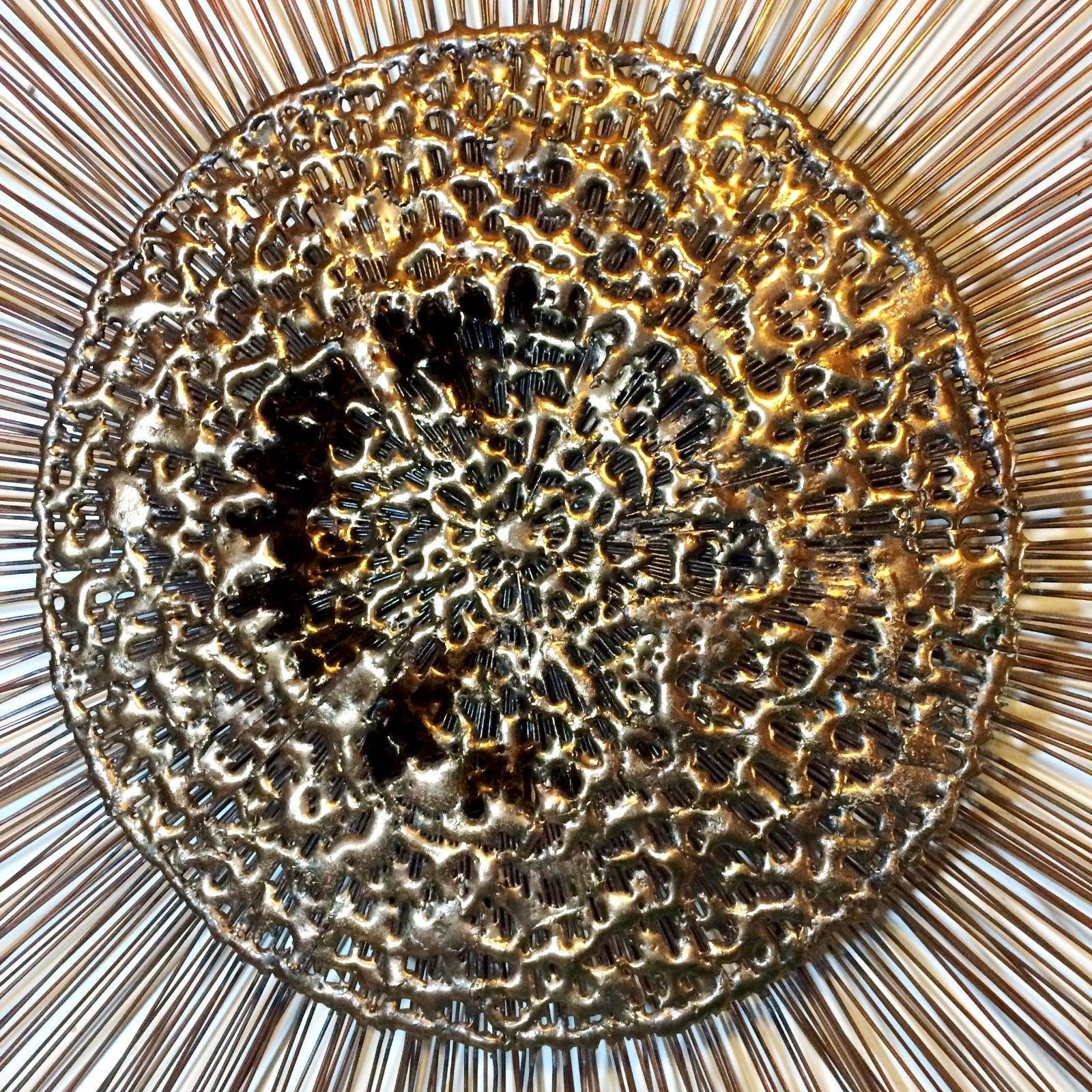 Curtis Jere Sunburst Starburst Brutalist Metal Wall Sculpture Image Of