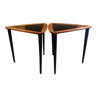 Vintage Arthur Umanoff Walnut Stacking Tables - a Pair For Sale