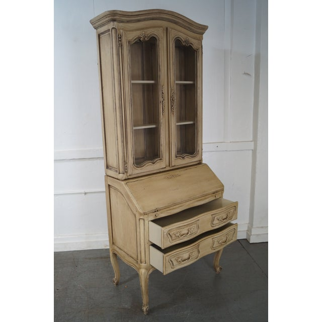 French Louis XV Style Painted Secretary Desk - Image 5 of 10