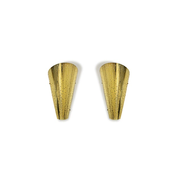 Gold Golden Wall Sconce From Modern Wall. For Sale - Image 8 of 8