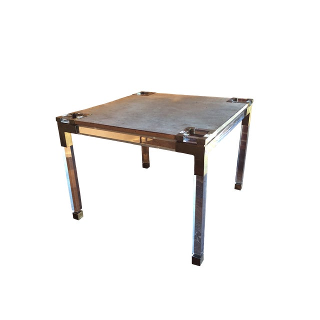 1930s Vintage Lucite Game Table For Sale - Image 5 of 5