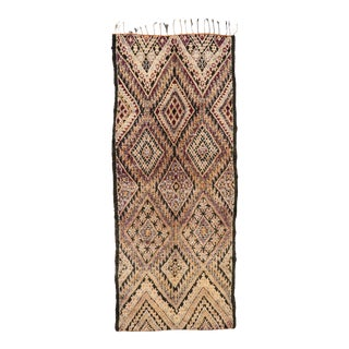 Vintage Beni M'Guild Moroccan Gallery Rug - 06'10 X 16'09 For Sale