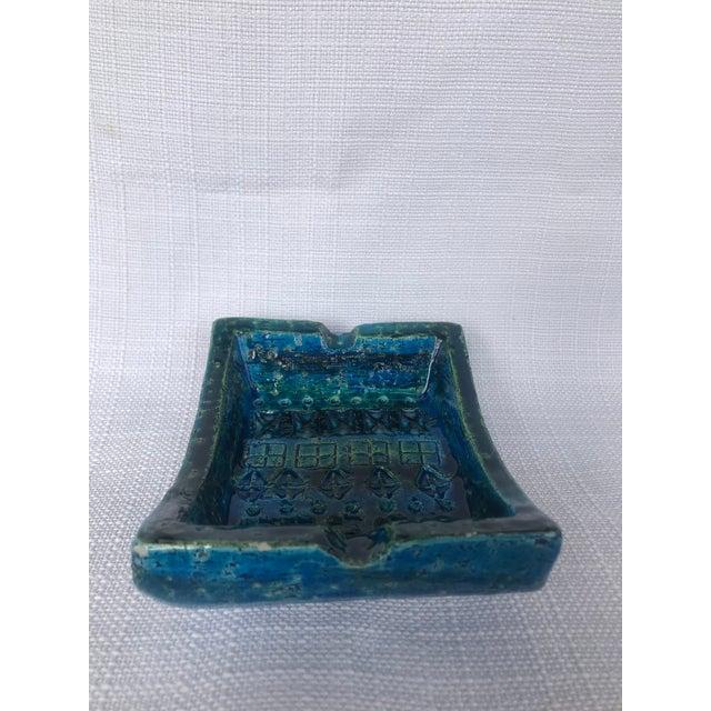 Bitossi 1960s Bitossi Rimini Blue Ashtray Platter Catchall Aldo London For Sale - Image 4 of 10