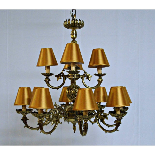 12 Arm Dutch Brass Chandelier - Image 7 of 9