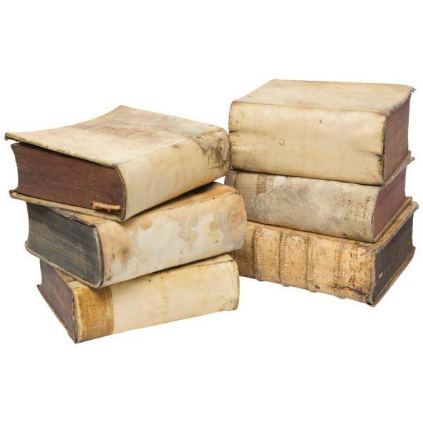 17th Century 18th Century Vellum Books in a Collection of 6 Books For Sale - Image 5 of 5