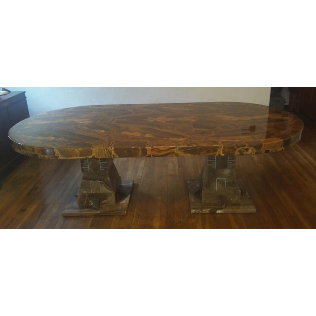 Contemporary Mid Century Muller of Mexico Onyx Dining Table For Sale - Image 3 of 10