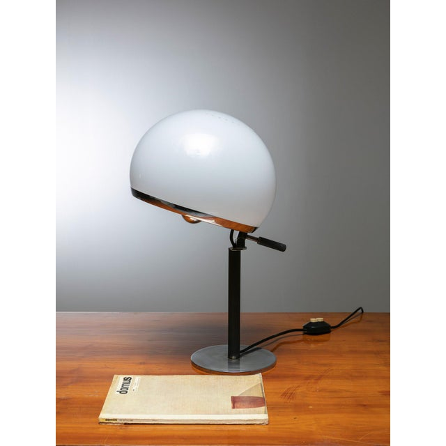 """1960s Rare """"Bino"""" Table Lamp by Gregotti, Meneghetti, Stoppino for Candle For Sale - Image 5 of 6"""