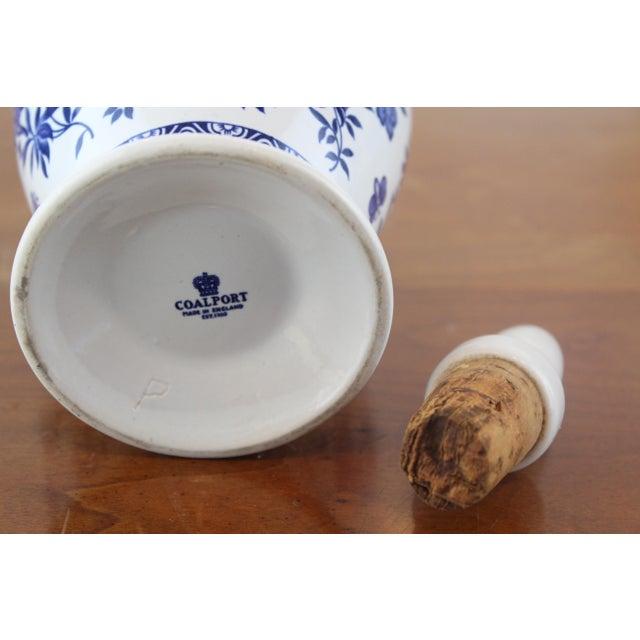 Ceramic Blue and White Coalport Decanter For Sale - Image 7 of 10