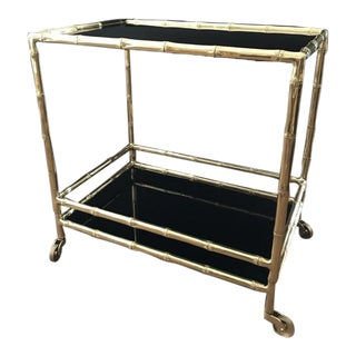 Ralph Lauren Home Brass Bamboo Drinks Trolley