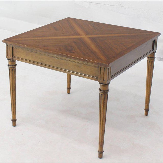 Brown Baker Square Satinwood Side Lamp Table For Sale - Image 8 of 10