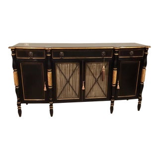 Hickory White Empire Style Buffet Sideboard Credenza For Sale