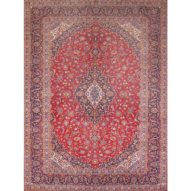 "Pasargad Kashan Collection Rug - 9'10"" X 13'1"" - Image 1 of 2"