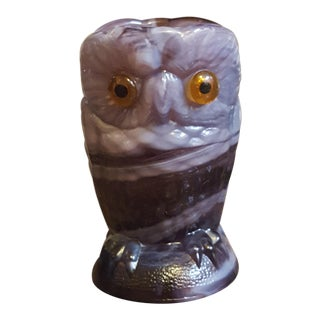 Double Sided Small Imperial Slag Glass Owl