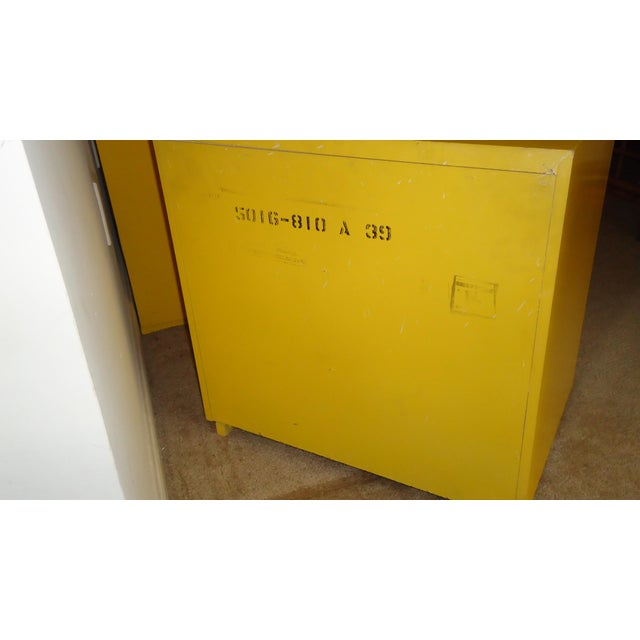 Mid-Century Modern Yellow Nightstands - A Pair - Image 3 of 6