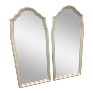 Hollywood Regency Scalloped Mirrors - A Pair