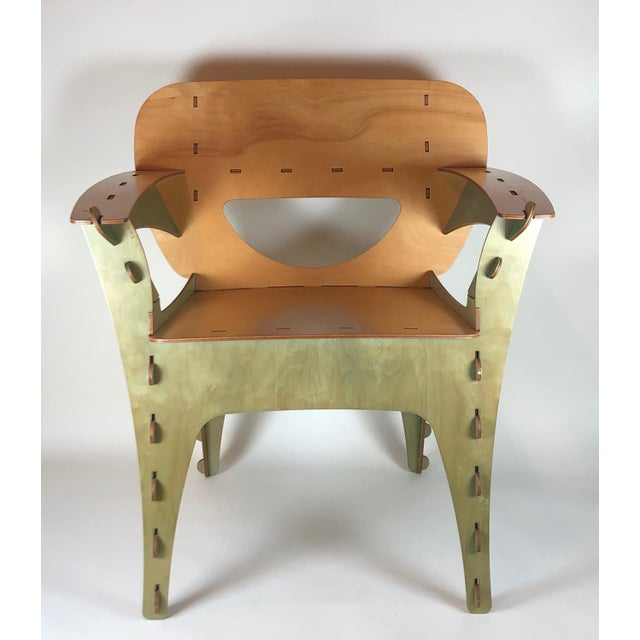 Modern 1990s Vintage David Kawecki Puzzle Chairs- A Pair For Sale - Image 3 of 6