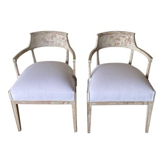 Swedish Barrel Back Chairs - a Pair For Sale