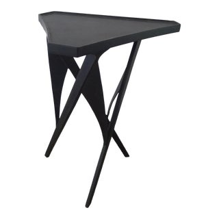 Paul Marra Triangular Steel Side Table For Sale