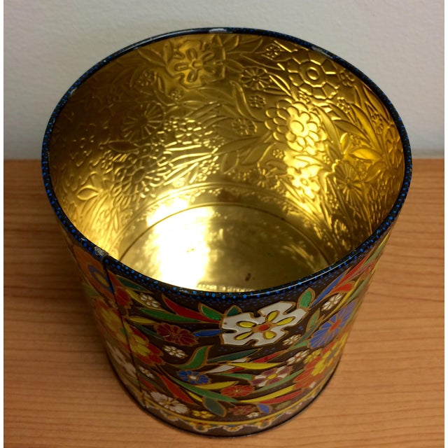 Boho English Colorful Tin Container - Image 6 of 6
