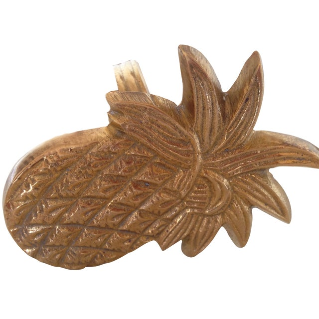 Vintage Brass Pineapple Napkin Rings - Set of 4 - Image 1 of 4