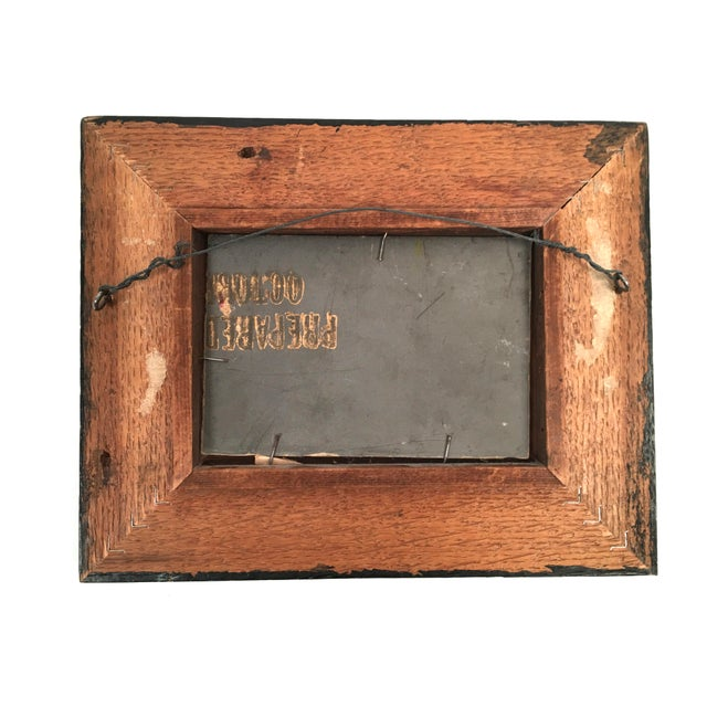 Late 19th Century 19th Century Small Landscape Painting with Railroad Tracks and Telegraph Poles For Sale - Image 5 of 10