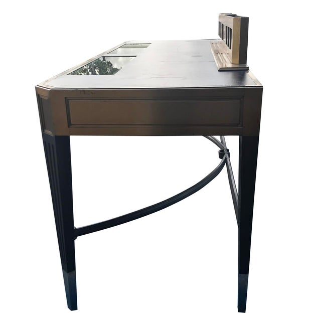 Gorgeous Vintage Banker's Desk For Sale - Image 10 of 11
