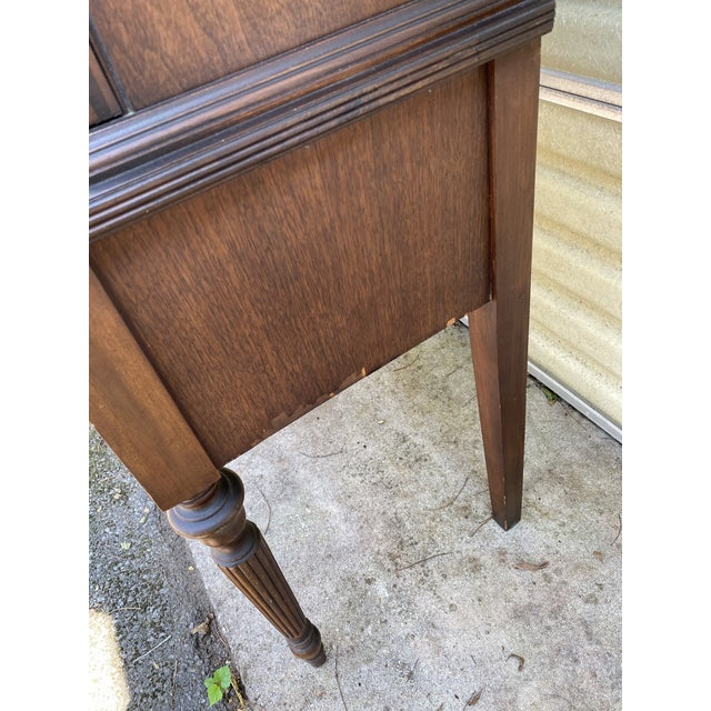 Vintage Mahogany Chippendale Curio Display Cabinet For Sale - Image 12 of 13