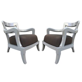 Pair Italian Modern Lounge Chairs For Sale