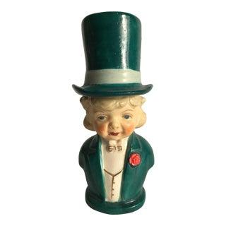 Vintage Salt & Pepper Shaker Man & Top Hat - a Pair For Sale