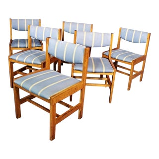 Oak Dining Side/Office Chairs - Set of 6 For Sale