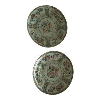 Antique Ceramic Chinese Plates - a Pair