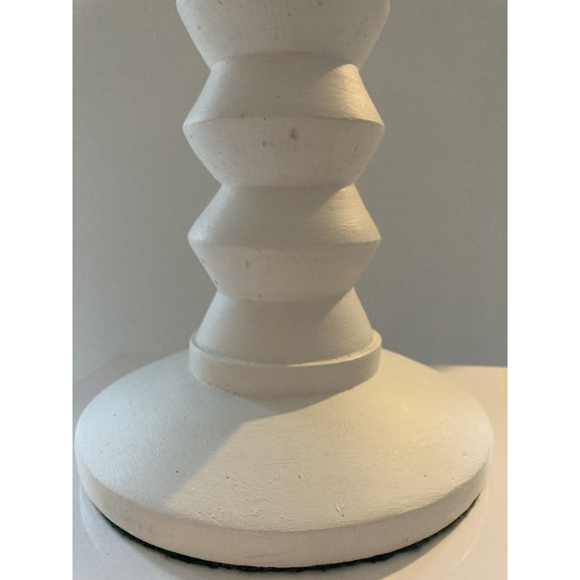 Alberto & Diego Giacometti 1970s Plaster Lamps in the Style of Alberto Giaccometti - a Pair For Sale - Image 4 of 8