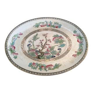 Antique English Chinoiserie Porcelain Platter For Sale