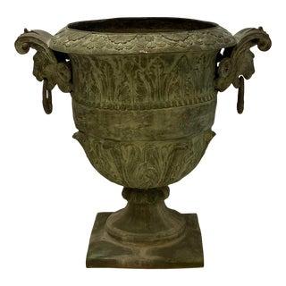 1960s Monumental Cast Bronze Garden Planter For Sale
