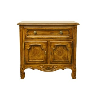 Drexel Heritage Cabernet II Collection Walnut Italian Provincial Nightstand For Sale