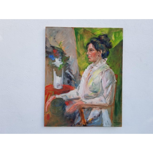1972 Alice Brock Abstract Still Life Painting For Sale - Image 10 of 12