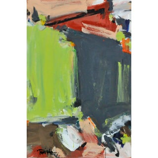 """""""Gary and Lime"""" Contemporary Abstract Acrylic Painting by Robbie Kemper For Sale"""