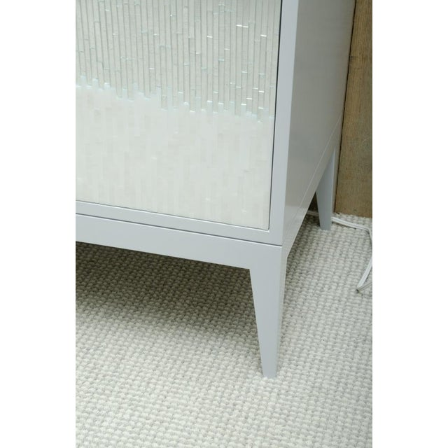 Modern Contemporary Mosaic Glass 4 Door Buffet For Sale - Image 3 of 10