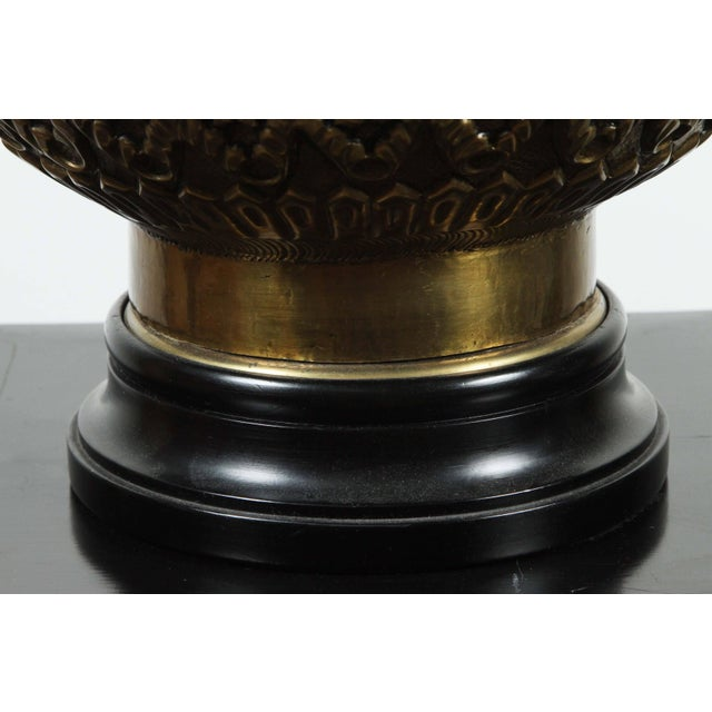 Anglo-Indian Moorish Indo Persian Brass Table Lamp For Sale - Image 3 of 8