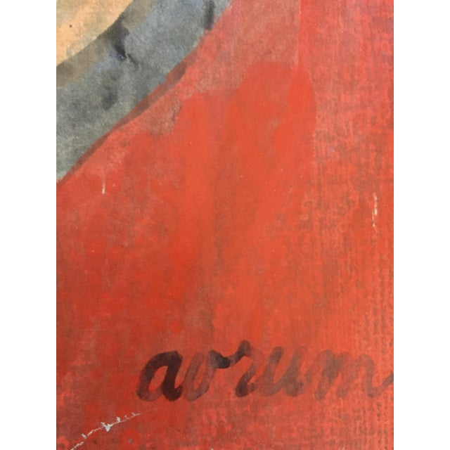 Abstract Expressionism Beatnik San Francisco Artist Avrum Rubentein Figure Study Painting For Sale - Image 3 of 7